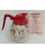 Unused Vintage Harley Davidson Dealership Coffee Carafe Pot Glass Red Ra... - $197.99