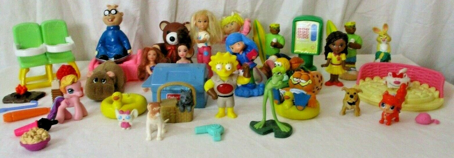 Primary image for Vintage Happy Meal Toys McDonalds FP Disney 80s 90s Mixed Box Cartoon 40 pieces