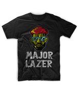 New Rare Funny Major Lazer Hip Hop Electro Music Usa Diplo Men Black T-S... - $17.99