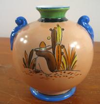 Trico Lusterware Ball Vase Mexican Man Siesta Cacti Hand Painted Nagoya ... - $86.89