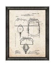 Head-harness for Football Players Patent Print Old Look with Black Wood Frame - $24.95+