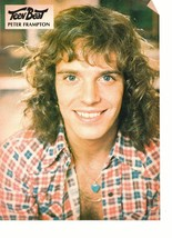 Peter Frampton teen magazine pinup clipping blue heart necklace blue eyes Bop