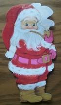 VINTAGE HALLMARK CHRISTMAS GREETINGS CARD ~ SANTA CLAUS ~ FLOCKING ~ SPO... - $4.94