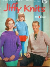 Vintage Jiffy Knits Coats & Clark Book No 158 1965 - $3.99