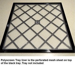 """Excalibur 14"""" x 14"""" Polyscreen Mesh Tray Screen Inserts for 5 and 9 Tray - $49.49"""