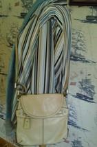 Fossil Beige/Cream Pebble Leather Crossbody Bag - $25.00