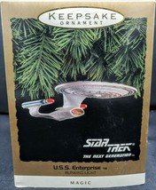 Christmas Hallmark Keepsake Ornament Star Trek USS Enterprise Magic Ligh... - $18.80