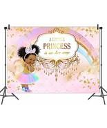 Mehofoto Unicorn Princess Baby Shower Backdrop Pink Rainbow Princess Pho... - $21.80