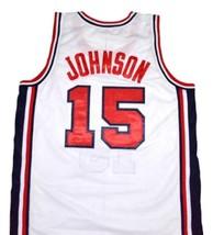 Magic Johnson #15 Team USA Basketball Jersey White Any Size  image 5