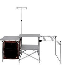 Mountain Story Wide Multi Kitchen Foldable Table Set for Camping Outdoor Activit