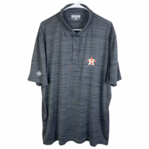 Houston Astros Polo Shirt 2XL XXL Heather Gray MLB Modern S/S 2019 World... - $24.65
