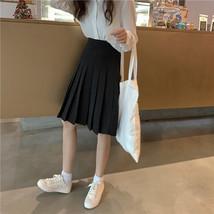 White Pleated Skirt White Pleated Tennis Skirt Plus Size White Skirt High Waist image 6