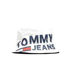 NWT Tommy Hilfiger Jeans Logo White Bucket Hat One Size Fits Most - $39.26