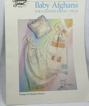 Baby Afghans Counted Cross Stitch Embroidery 13+ Projects Noah's Arc Crafts - $9.89