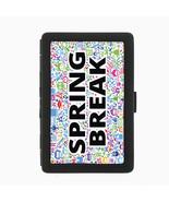 Spring Break D2 Black Cigarette Case Metal Wallet RFID Protection - $9.46