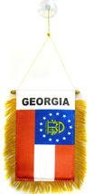 "Wholesale lot 3 State of Georgia Mini Flag 4""x6"" Window Banner w/ suctio... - $22.00"