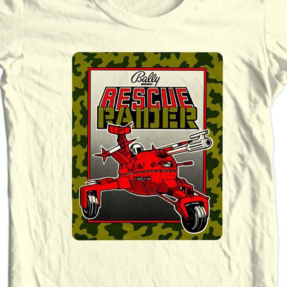 Rescue Raiders t-shirt Ballys vintage retro arcade video game tee free shipping