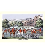 Fox Hunters Gather at Amstead Abbey by Henry Thomas Alken - Art Print - $19.99+