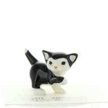 Hagen Renaker Cat Black and White Tuxedo Kitten Playing Ceramic Figurine