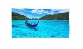Tourist long tail boat Beach Bath Towel Swimming Pool Holiday Gym Vacati... - $24.99+