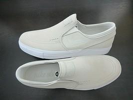 Nike Mens Zoom Stefan Janoski Slip Suede Skate Shoes White Light Bone Si... - $64.34