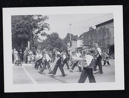 Old Vintage Antique Photograph Cool Band Marching in Parade - Instrument... - $6.93