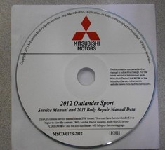 2012 MITSUBISHI OUTLANDER SPORT Service Repair Manual CD FACTORY OEM BRA... - $247.50