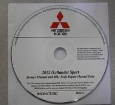 2012 MITSUBISHI OUTLANDER SPORT Service Repair Manual CD FACTORY OEM BRA... - $247.50