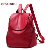 Fashion PU Leather Backpack Women Soft School Backpacks For Teenage Girl... - $60.96