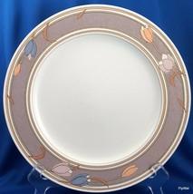 "Mikasa Intaglio Meadow Sun Dinner Plate CAC02 Taupe Pastel Tulips 11"" - $10.83"