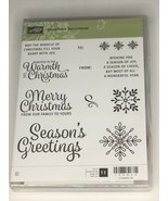 Stampin Up Snowflake Sentiments Stamps Swirly Snowflake Thinlits Dies Ch... - $49.49