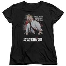 Shaun Of The Dead - Hero Must Rise Short Sleeve Women's Tee Shirt Officially Lic - $19.99+