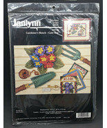 Janlynn Gardeners Bench Gate Key Gardening Counted Cross Stitch Kit Flow... - $17.99