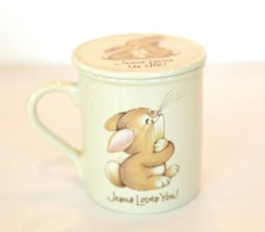 "Hallmark Mug Mates cup with lid ""Jesus loves us all"" VTG 12oz JAPAN exc ... - $18.80"