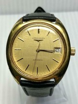 LONGINES antique Men's watch self-winding date gold clad 633 Swiss made - $545.48