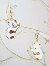 Charming Genuine Cloisonne Enamel White Koala Bear Pierced Earrings 1970... - $14.20