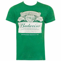 Budweiser St. Patricks Day Label Tee Shirt Green - $29.98+