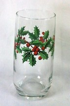 Anchor Hocking Heritage Holly Cooler Christmas Glass - $4.67