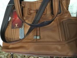 Tignanello Super Stitch Drawstring Shopper Cognac NWT - $93.95