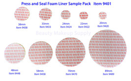 Press and Seal Foam Liners Tamper Leak Proof Container Sealer Assortment... - $15.95