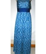New Womens NWT Tahari Dress Sail Away Maxi Long Strapless Straps 6 Blue ... - $14.00