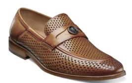Stacy Adams Belmiro Moc Toe Ornament Slip On Shoe Tan 25373-240 - €86,19 EUR