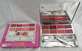Clinique Pretty Easy Lip Palette 8 Colors Brush Spatula Mirrored Compact NIB - $33.47
