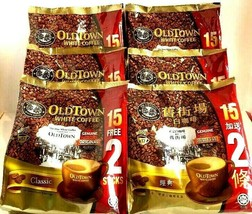 Old Town 3-In-1 Instant Classic White Coffee 15 sticks x 38g ( Pack of 6 ) - $64.34