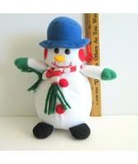 Talking Plush  Snowman Christmas Ornament 'Merry Christmas Happy New Year' - $10.16