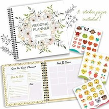 The Perfect Wedding Planner & Organizer with Stickers. A Complete 80-Pag... - $37.74