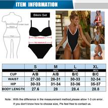 Women 's Sexy Deep V Neck One Piece Backless Thong Swimsuit image 3