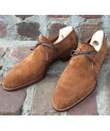 Men's Lace Up Brogue dress Fashion shoes Handmade New men's Brown Suede ... - $144.99+