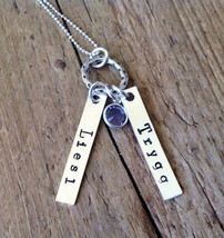 TWINS Personalized Jewelry Mom's Necklace Twin Babies Mothers Day births... - $34.00