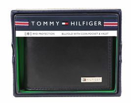 Tommy Hilfiger Men's Leather Credit Card Id Billfold Coin Rfid Wallet 31Tl130049 image 3